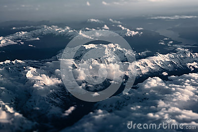 Tiltshifted Alps - Aerial View