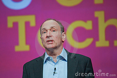 Tim Berners-Lee delivers address to IBM Lotusphere Editorial Stock Image