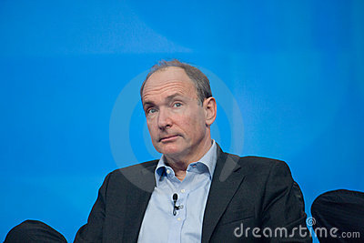 Tim Berners-Lee delivers address to IBM Lotusphere Editorial Photography