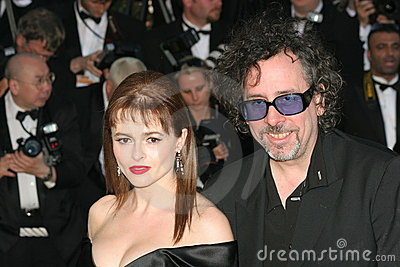 Tim Burton and wife Helena Bonham Carter Editorial Photo
