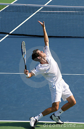 Tim Henman Serve Editorial Photography