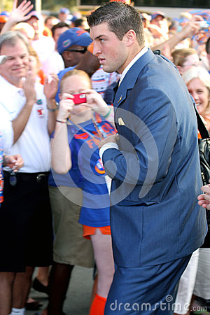 Tim Tebow at Gator Walk Editorial Stock Photo