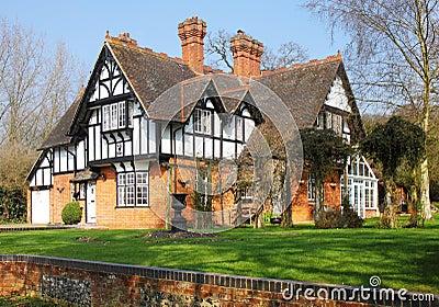 Timber framed english rural house royalty free stock photo for Casa rural mansion terraplen seis