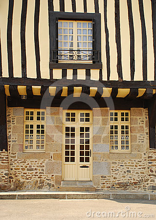 Timber framed house. Fougères, Brittany, France