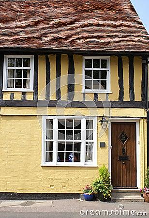 Free Timber-framed Tudor-style House Stock Image - 12389101