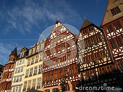 Timber houses at frankfurt