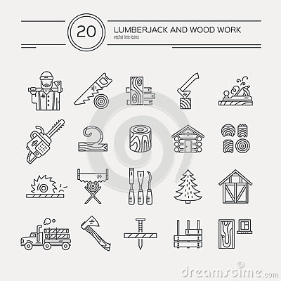 Free Timber Industry Icons Stock Image - 62139691