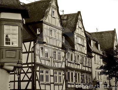 Timbered houses