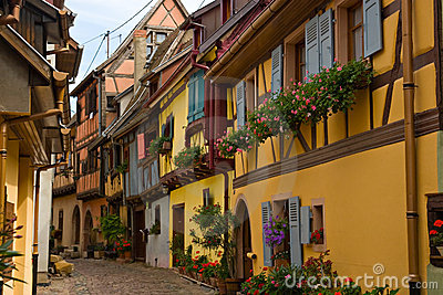 Timbered houses in Alsace, France