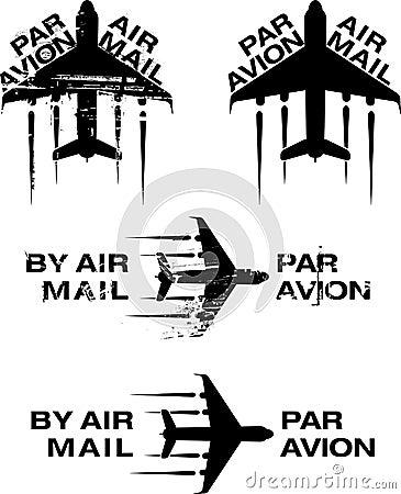 Timbro di gomma 02 di Avion di parità