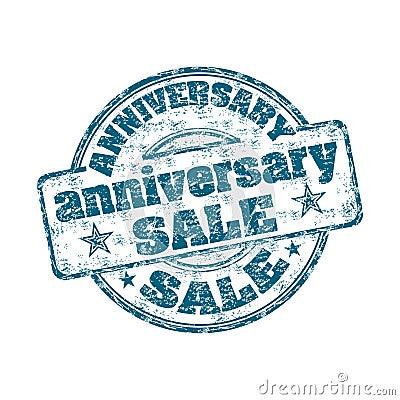 Timbro di gomma di vendita di anniversario