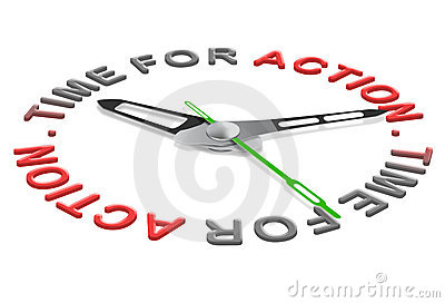 Time for action act now new start