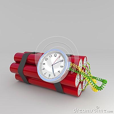 Time bombarderar
