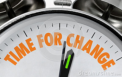 Time for change clockface