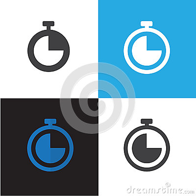 Time and Clock Icon Vector Illustration Vector Illustration