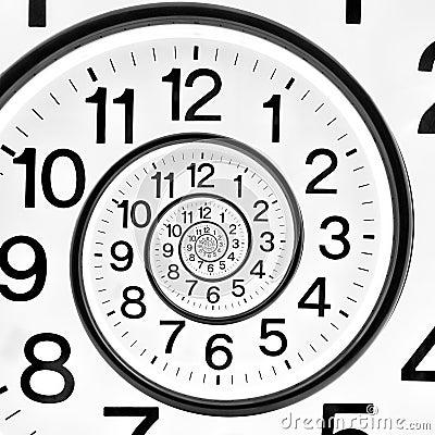 time clock infinite spiral stock photo image 64640954