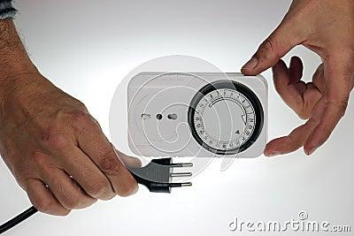 Time clock socket