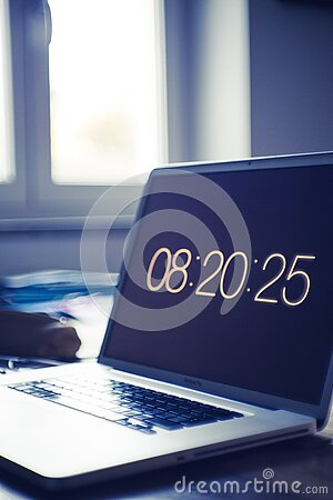 Time On Computer Screen Free Public Domain Cc0 Image