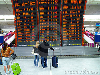 On time or delay? Editorial Stock Photo