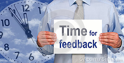 Time for feedback sign