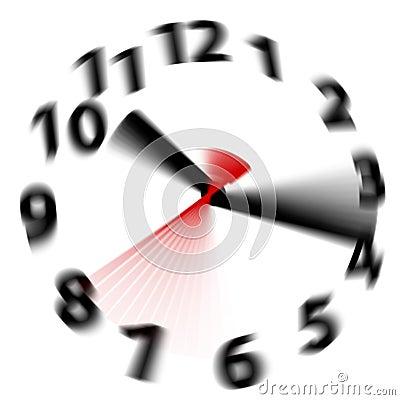 Time flies speed blur fast hands clock Stock Photo