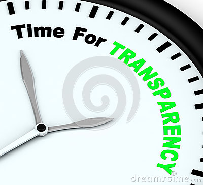 Free Time For Transparency Message Shows Ethics And Fairness Stock Images - 32073244