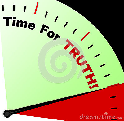 Free Time For Truth Message Means Honest And True Royalty Free Stock Image - 29592526
