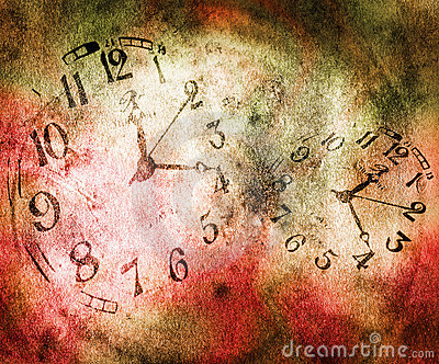 Time goes fast Cartoon Illustration