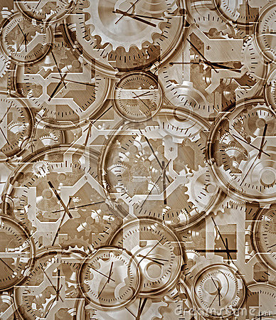 Free Time Gone By Clocks And Clockwork Stock Image - 14847231