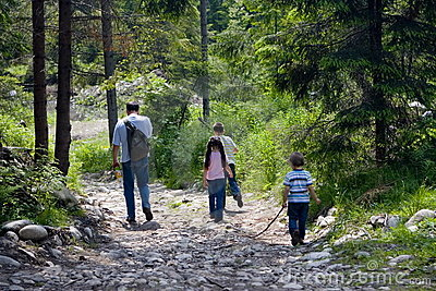 Time Hiking With Dad Stock Images - Image: 1585414