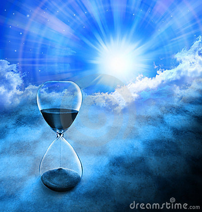 Free Time Hourglass Background Sun Sky Stock Photo - 23507060