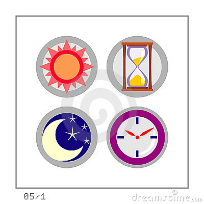 TIME: Icon Set 05 - Version 1 Royalty Free Stock Images - Image: 277509