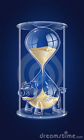 Free Time Is Money Royalty Free Stock Photography - 5250847