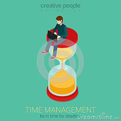 Free Time Is Money Flat 3d Web Isometric Infographic Business Concept Royalty Free Stock Images - 51125829