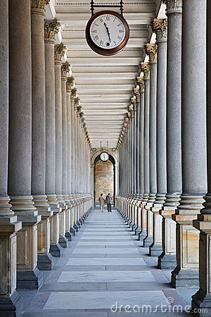 Free Time Is Passing... (colonnade In Karlovy Vary) Stock Images - 9036544