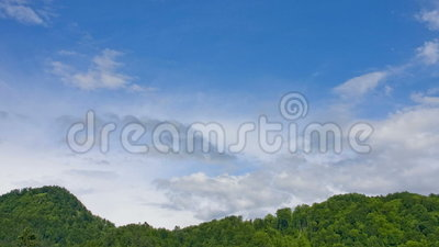 Time laps bad clouds coming. Timels nice weather to the dark clouds on the sky before storm stock footage
