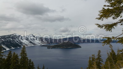 Time Lapse Movie of Moving Clouds Over Crater Lake National Park in Klamath County in Southern Oregon on a Windy Day 1080p. Time Lapse Movie of Moving Clouds stock footage