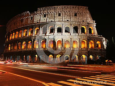 Time Lapse photo at Colosseum