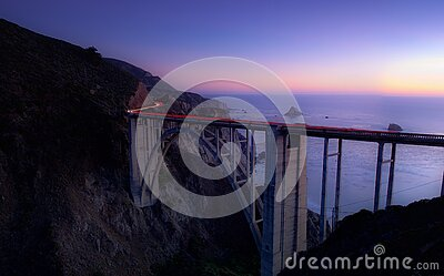 Time Lapse Photography Of Cars Running On Bridge Near Ocean Free Public Domain Cc0 Image