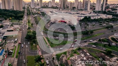 Time lapse video at Afonso Pena avenue, Campo Grande stock video