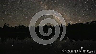 Time Laptop Star Trails in externe locatie stock videobeelden