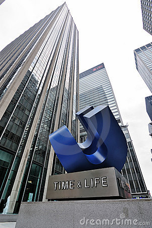 Time and Life Building Editorial Stock Photo