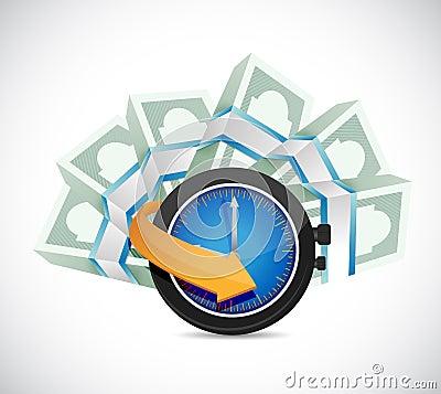 Time is money concept illustration design