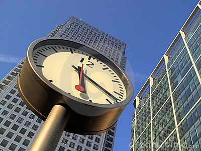 Time Is Money In Docklands Canary Wharf