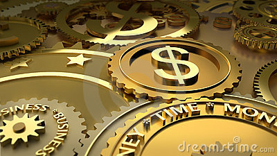 Time is money. dollar currency highlights.