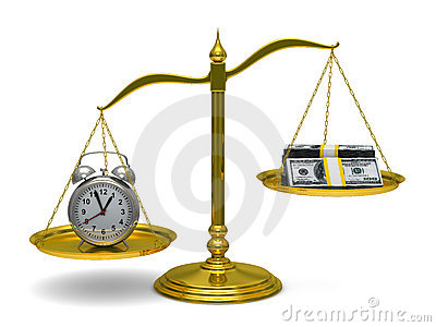 Time is money. Isolated 3D Stock Photo