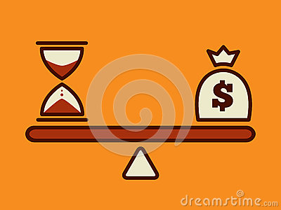 Time is money, money concept