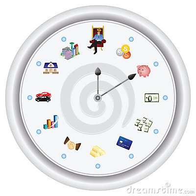 Time is money ---vector only, no bitmap