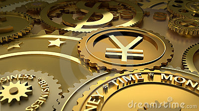 Time is money. Yen currency highlights.