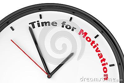 Time for Motivation concept
